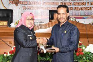 Pandangan Akhir Fraksi DPRD Setujui Pengajuan Perubahan Struktur Organisasi Perangkat Daerah Kabupaten Natuna.