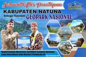 Natuna Kepri Terima Sertifikat Geopark Nasional