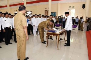 Bupati Natuna Lantik 144 Pejabat untuk Penyesuaian  SOTK Baru