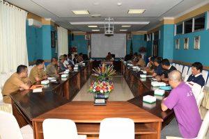 Sekda Natuna Pimpin Rapat Persiapan  MTQ X Kecamatan Pulau Tiga 2020