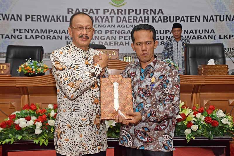 Bupati Natuna serahkan LKPJ Tahun 2018