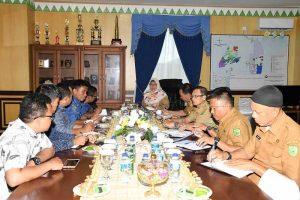 Wakil Bupati Natuna Gelar Rapat Terbatas terkait Kebakaran Fiber Optik di wilayah Cemaga