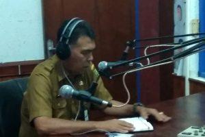 Sekretaris Daerah Sosialisasi Program Kerja  Pemerintah Kabupaten Natuna melalui RRI Ranai