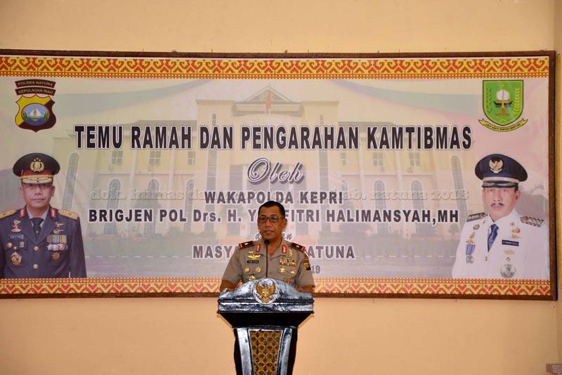 Wakapolda Gelar Pengarahan Kamtibmas Jelang Pemilu 2019 di Kabupaten Natuna