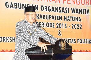 Bupati Natuna Harap  GOW Lakukan Penguatan Lembaga dan Tingkatkan Peran dalam Pembangunan Daerah