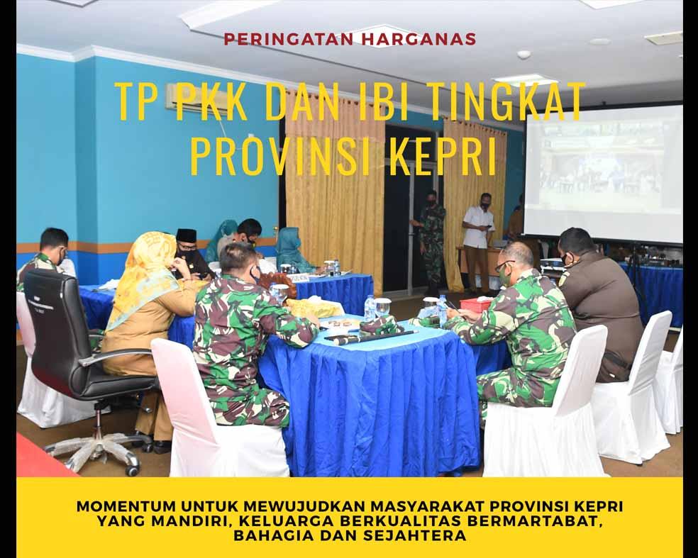 Wakil Bupati Natuna Ikuti Vidcon Peringatan Harganas, TP PKK dan IBI Tingkat Provinsi Kepri