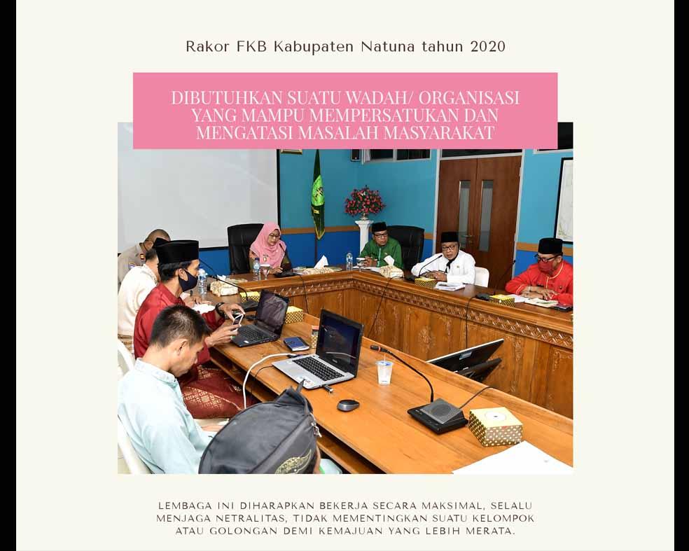 Wabup Natuna Hadiri Rakor FKB Kabupaten Natuna Tahun 2020