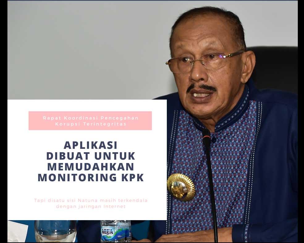 Bupati Natuna Hadiri Rapat Koordinasi Pencegahan Korupsi Terintegritas