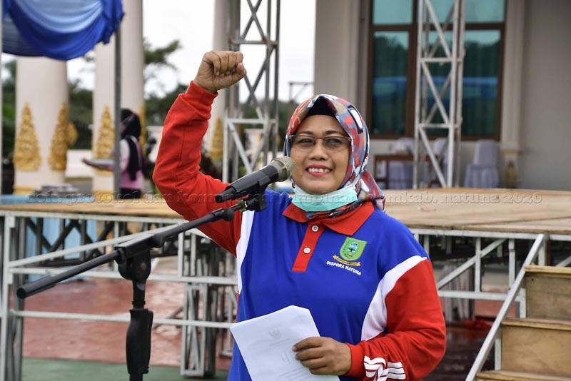 Senam Sehat Bersama Sempena Peringatan Hari Jadi Kabupaten Natuna Ke 21, Tahun 2020