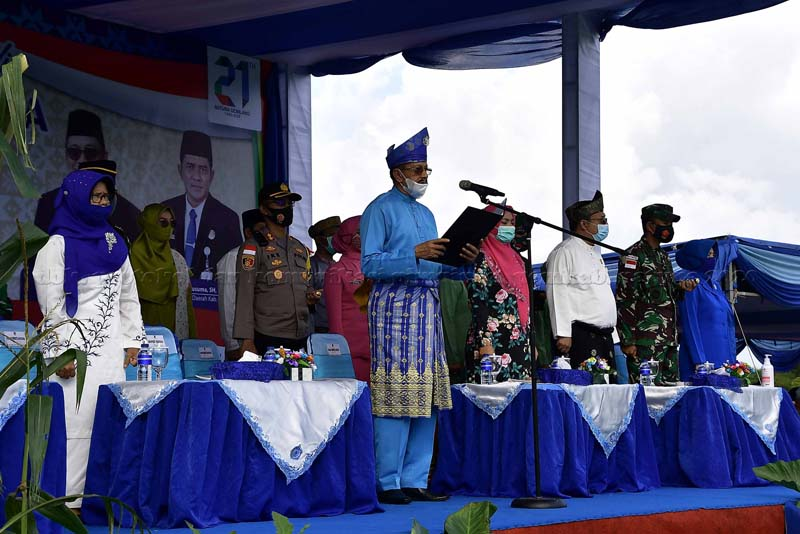 Upacara Peringatan Hari Jadi Kabupaten Natuna ke-21 Tahun 2020